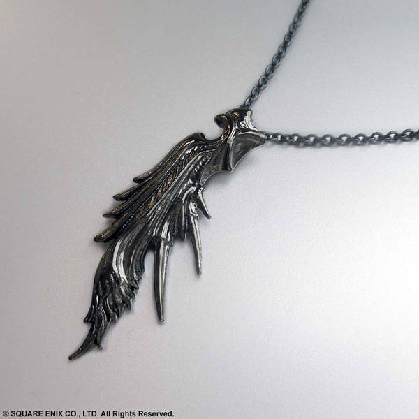 Final fantasy vii black silver pendant final fantasy vii sephiroth mozeypictures Image collections