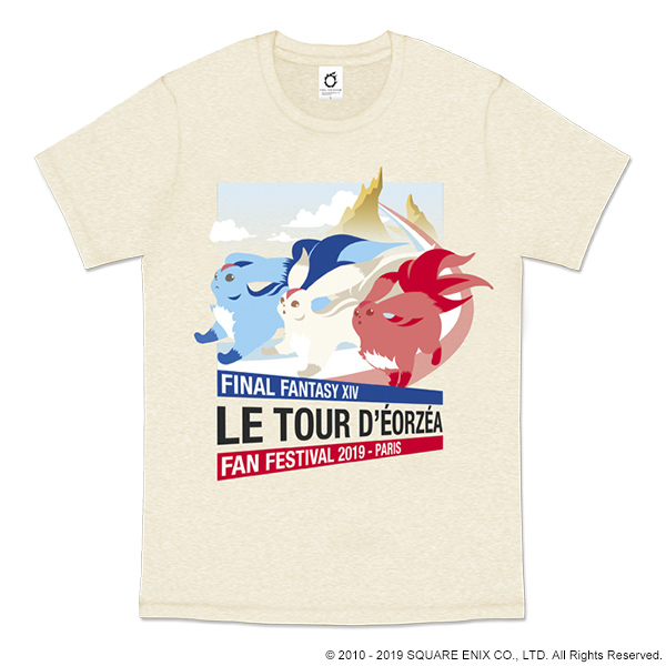 FINAL FANTASY XIV FAN FESTIVAL 2019 in Paris T-SHIRT<CARBUNCLE>【ファンフェス事前購入】